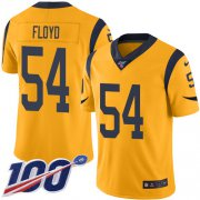 Wholesale Cheap Nike Rams #54 Leonard Floyd Gold Youth Stitched NFL Limited Rush 100th Season Jersey