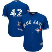 Wholesale Cheap Toronto Blue Jays #42 Majestic 2019 Jackie Robinson Day Official Cool Base Jersey Royal