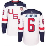 Wholesale Cheap Team USA #6 Erik Johnson White 2016 World Cup Stitched NHL Jersey