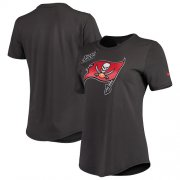 Wholesale Cheap NFL Women's Tampa Bay Buccaneers Nike Anthracite Crucial Catch Tri-Blend Performance T-Shirt
