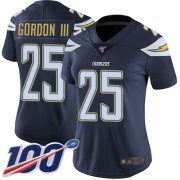 Wholesale Cheap Nike Chargers #25 Melvin Gordon III Navy Blue Team Color Women's Stitched NFL 100th Season Vapor Limited Jersey