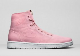 Wholesale Cheap Women\'s Jordan 1 Retro Shoes Pink/White