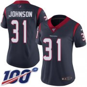 Wholesale Cheap Nike Texans #31 David Johnson Navy Blue Team Color Women's Stitched NFL 100th Season Vapor Untouchable Limited Jersey