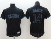 Wholesale Cheap Cubs #14 Ernie Banks Black Fashion Flexbase Authentic Collection Stitched MLB Jersey