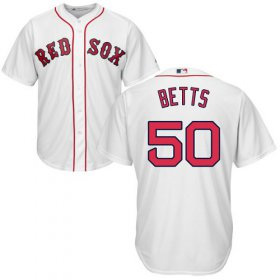 Wholesale Cheap Red Sox #50 Mookie Betts White Cool Base Stitched Youth MLB Jersey