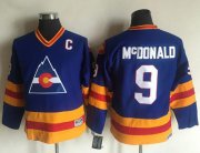 Wholesale Avalanche #9 Lanny McDonald Blue CCM Throwback Stitched Youth NHL Jersey