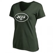 Wholesale Cheap Women's New York Jets Pro Line Primary Team Logo Slim Fit T-Shirt Green