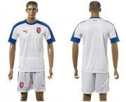Wholesale Cheap Czech Blank Away Soccer Country Jersey