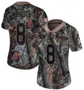 Wholesale Cheap Nike Raiders #8 Marcus Mariota Camo Women's Stitched NFL Limited Rush Realtree Jersey