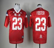 Wholesale Cheap Texans #23 Arian Foster Red 2012 Pro Bowl Stitched NFL Jersey
