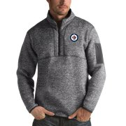 Wholesale Cheap Winnipeg Jets Antigua Fortune Quarter-Zip Pullover Jacket Black