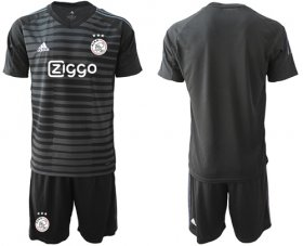 Wholesale Cheap Ajax Blank Black Goalkeeper Soccer Club Jersey