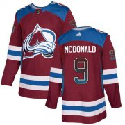 Wholesale Cheap Adidas Avalanche #9 Lanny McDonald Burgundy Home Authentic Drift Fashion Stitched NHL Jersey