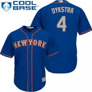 Wholesale Cheap Mets #4 Lenny Dykstra Blue(Grey NO.) Cool Base Stitched Youth MLB Jersey
