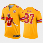 Cheap Kansas City Chiefs #87 Travis Kelce Nike Team Hero 2 Vapor Limited NFL Jersey Yellow