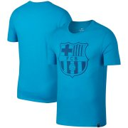 Wholesale Cheap Barcelona Nike Team Crest Performance T-Shirt Light Blue