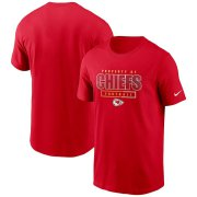Wholesale Cheap Kansas City Chiefs Nike Team Property Of Essential T-Shirt Red