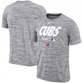 Wholesale Cheap Chicago Cubs Nike Authentic Collection Velocity Team Issue Performance T-Shirt Gray