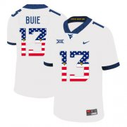 Wholesale Cheap West Virginia Mountaineers 13 Andrew Buie White USA Flag College Football Jersey