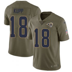 Wholesale Cheap Nike Rams #18 Cooper Kupp Olive Youth Stitched NFL Limited 2017 Salute to Service Jersey
