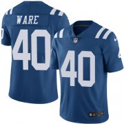 Wholesale Cheap Nike Colts #40 Spencer Ware Royal Blue Men's Stitched NFL Limited Rush Jersey