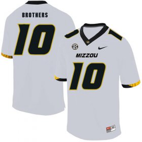 Wholesale Cheap Missouri Tigers 10 Kentrell Brothers White Nike College Football Jersey