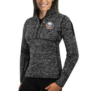 Wholesale Cheap New York Islanders Antigua Women's Fortune 1/2-Zip Pullover Sweater Charcoal