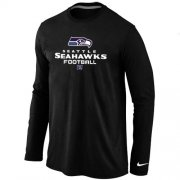 Wholesale Cheap Nike Seattle Seahawks Critical Victory Long Sleeve T-Shirt Black