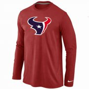 Wholesale Cheap Nike Houston Texans Logo Long Sleeve T-Shirt Red