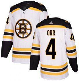Wholesale Cheap Adidas Bruins #4 Bobby Orr White Road Authentic Youth Stitched NHL Jersey