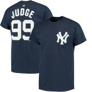 Wholesale Cheap New York Yankees #99 Aaron Judge Majestic Official Name & Number T-Shirt Navy