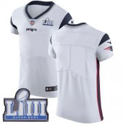 Wholesale Cheap Nike Patriots Blank White Super Bowl LIII Bound Men's Stitched NFL Vapor Untouchable Elite Jersey