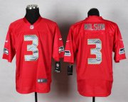 Wholesale Cheap Nike Seahawks #3 Russell Wilson Red Men's Stitched NFL Elite QB Practice Jersey