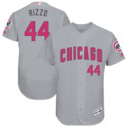 Wholesale Cheap Cubs #44 Anthony Rizzo Grey Flexbase Authentic Collection Mother's Day Stitched MLB Jersey