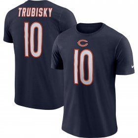 Wholesale Cheap Chicago Bears #10 Mitchell Trubisky Nike Player Pride Name & Number Performance T-Shirt Navy