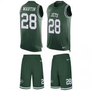 Wholesale Cheap Nike Jets #28 Curtis Martin Green Team Color Men's Stitched NFL Limited Tank Top Suit Jersey