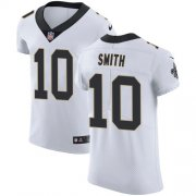 Wholesale Cheap Nike Saints #10 Tre'Quan Smith White Men's Stitched NFL Vapor Untouchable Elite Jersey