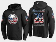 Wholesale Cheap Sabres #28 Zemgus Girgensons NHL Banner Wave Usa Flag Black Hoodie