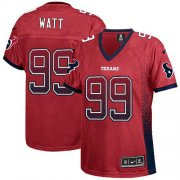 Wholesale Cheap Nike Texans #99 J.J. Watt Red Alternate Women's Stitched NFL Elite Drift Fashion Jersey