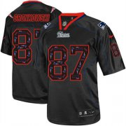 Wholesale Nike Patriots #87 Rob Gronkowski New Lights Out Black Men's Stitched NFL Elite Jersey