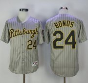 Wholesale Cheap Pirates #24 Barry Bonds Grey Strip 1997 Turn Back The Clock Stitched MLB Jersey