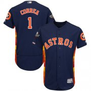 Wholesale Cheap Astros #1 Carlos Correa Navy Blue Flexbase Authentic Collection 2019 World Series Bound Stitched MLB Jersey
