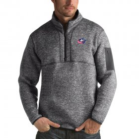 Wholesale Cheap Columbus Blue Jackets Antigua Fortune Quarter-Zip Pullover Jacket Black