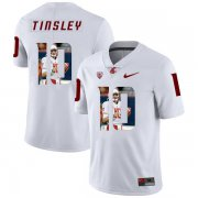 Wholesale Cheap Washington State Cougars 10 Trey Tinsley White Fashion College Football Jersey