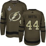 Cheap Adidas Lightning #44 Jan Rutta Green Salute to Service 2020 Stanley Cup Champions Stitched NHL Jersey