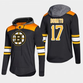 Wholesale Cheap Bruins #17 Ryan Donato Black 2018 Pullover Platinum Hoodie