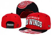 Wholesale Cheap NHL Detroit Red Wings Team Logo Red Snapback Adjustable Hat