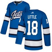 Wholesale Cheap Adidas Jets #18 Bryan Little Blue Alternate Authentic Stitched NHL Jersey
