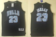 Wholesale Cheap Men's Chicago Bulls #23 Michael Jordan Black Diamond Stitched NBA Adidas Revolution 30 Swingman Jersey