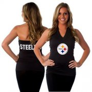 Wholesale Cheap Women's All Sports Couture Pittsburgh Steelers Blown Coverage Halter Top